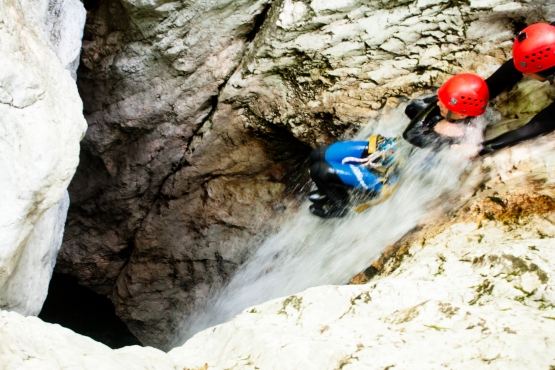 canyoning slovenia