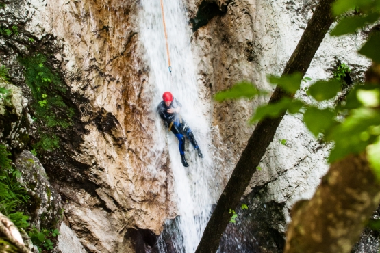 canyoning sušec